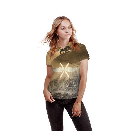 Женская рубашка поло 3D  Фото 03, Авиация