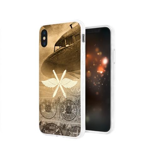 Чехол для Apple iPhone X силиконовый глянцевый  Фото 03, Авиация