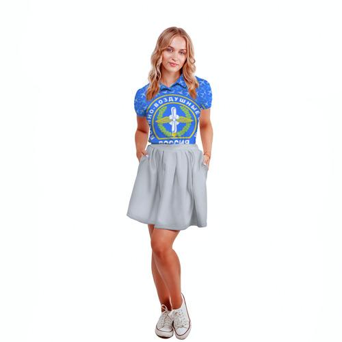 Женская рубашка поло 3D  Фото 04, ВВС РОССИИ