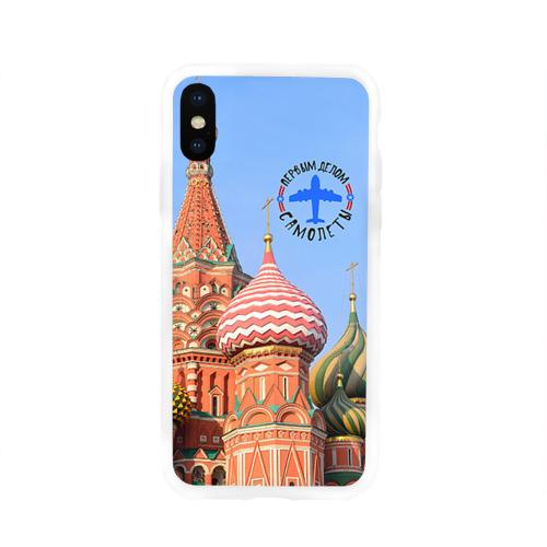 Чехол для Apple iPhone X силиконовый глянцевый  Фото 01, Русская авиация