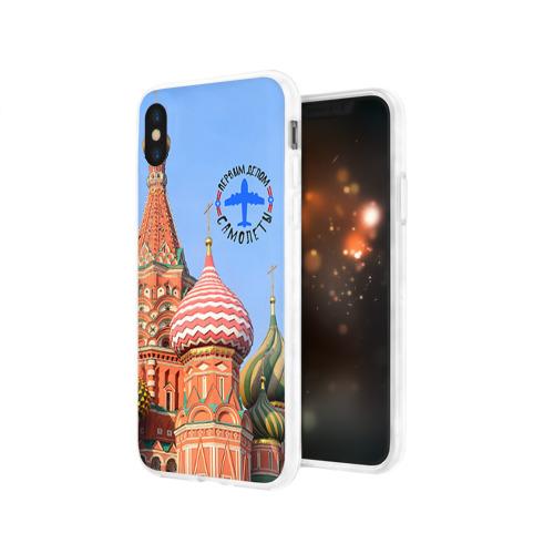 Чехол для Apple iPhone X силиконовый глянцевый  Фото 03, Русская авиация