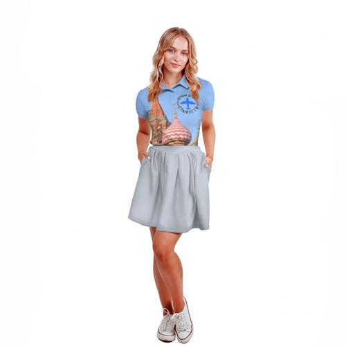 Женская рубашка поло 3D  Фото 04, Русская авиация
