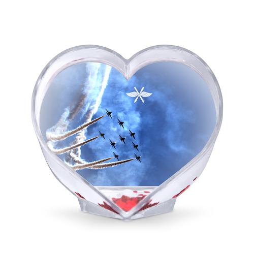 Сувенир Сердце Самолеты в небе от Всемайки