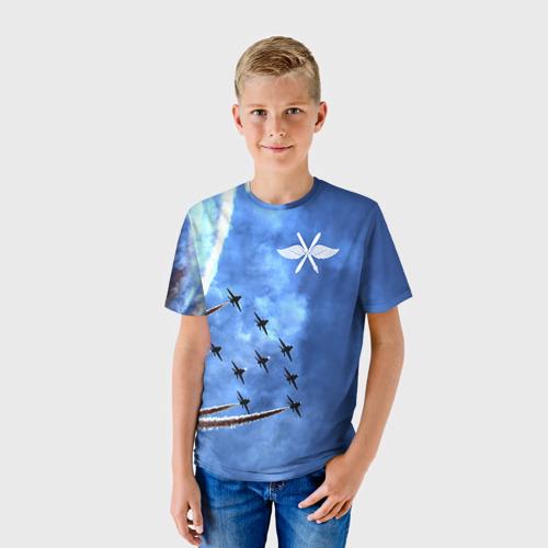 Детская футболка 3D Самолеты в небе