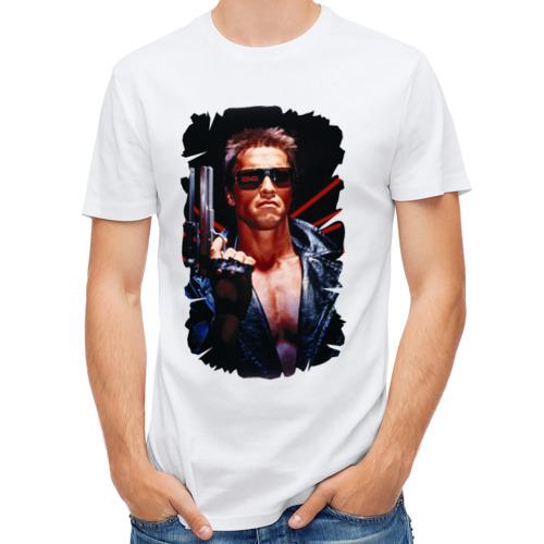 Мужская футболка полусинтетическая  Фото 01, Шварценеггер (терминатор)