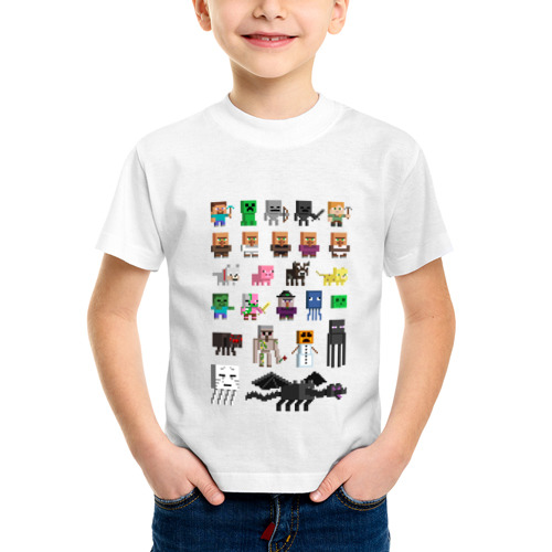 Детская футболка синтетическая Мобы Minecraft от Всемайки