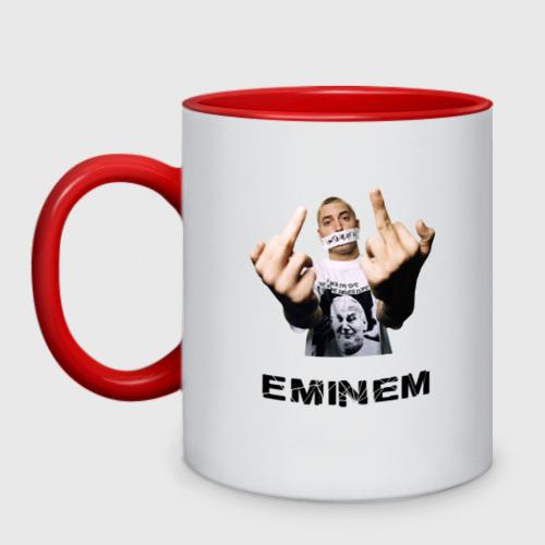 Кружка двухцветная Eminem Fuck