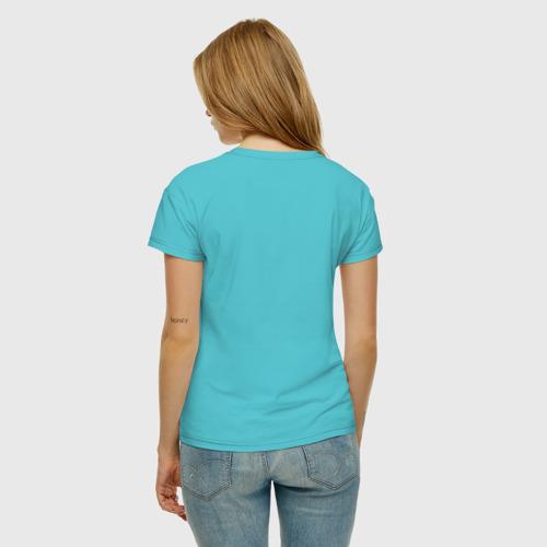 Женская футболка хлопок Коты - Воители. Синяя звезда Фото 01