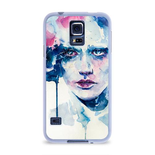 Чехол для Samsung Galaxy S5 силиконовый  Фото 01, Акварель