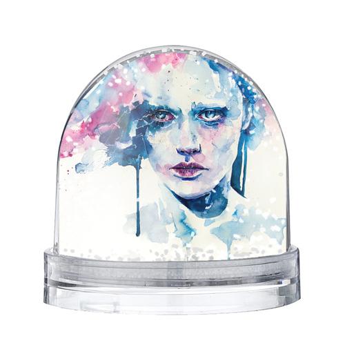 Водяной шар со снегом Акварель