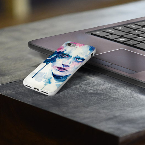 Чехол для Apple iPhone 8 силиконовый глянцевый  Фото 03, Акварель