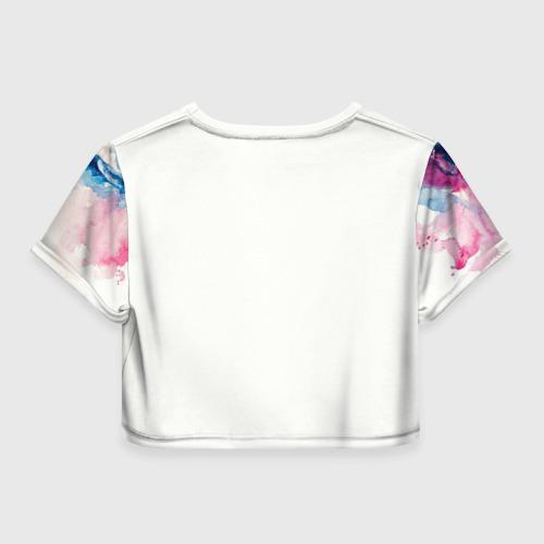 Женская футболка 3D укороченная  Фото 02, Акварель