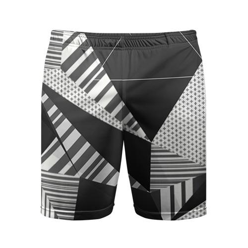 Мужские шорты 3D спортивные Геометрия
