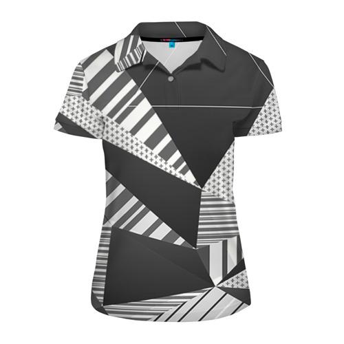 Женская рубашка поло 3D Геометрия
