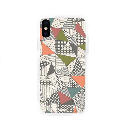 Чехол для Apple iPhone X силиконовый глянцевый  Фото 01, Геометрия