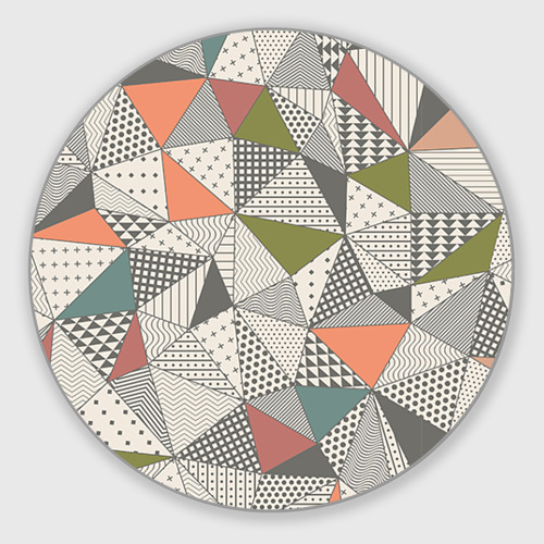 Коврик для мышки круглый Геометрия Фото 01
