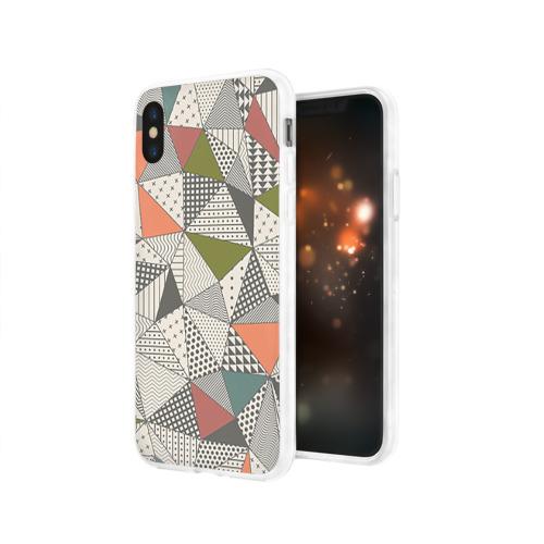 Чехол для Apple iPhone X силиконовый глянцевый  Фото 03, Геометрия