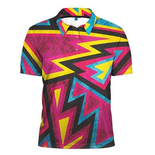 Мужская рубашка поло 3D Геометрия