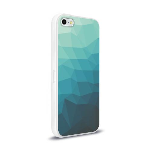 Чехол для Apple iPhone 5/5S силиконовый глянцевый Геометрия Фото 01