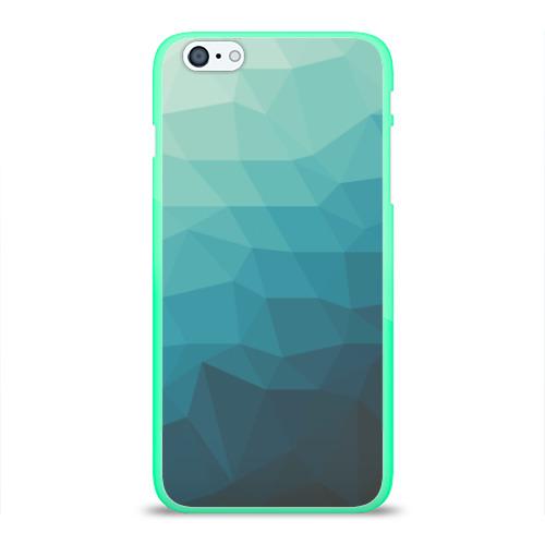 """Чехол силиконовый глянцевый для Apple iPhone 6 Plus """"Геометрия"""" - 1"""