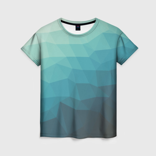 """Женская футболка 3D с полной запечаткой """"Геометрия"""" - 1"""