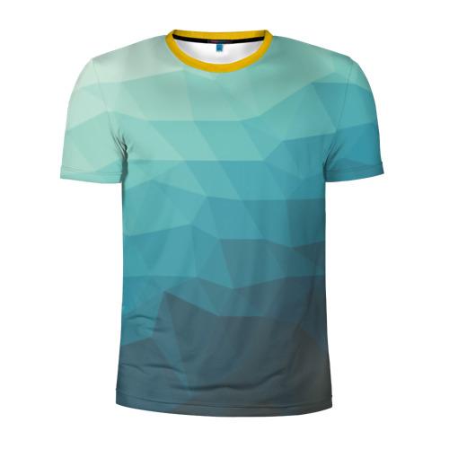 Мужская футболка 3D спортивная Геометрия