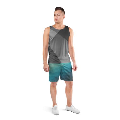 Мужские шорты 3D спортивные  Фото 04, Геометрия