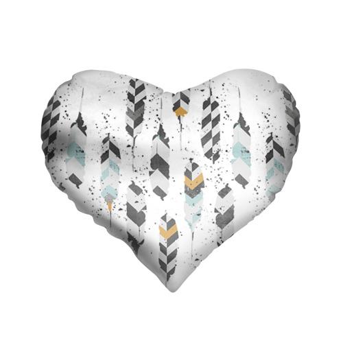 Подушка 3D сердце Перья