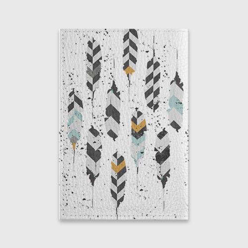 Обложка для паспорта матовая кожа  Фото 02, Перья