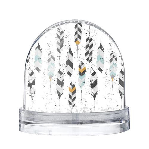 Водяной шар со снегом Перья