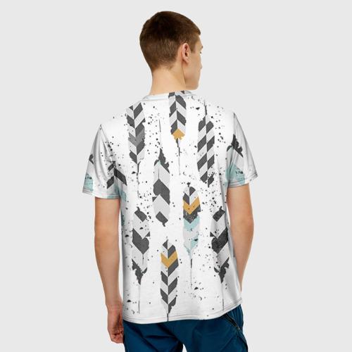Мужская футболка 3D Перья