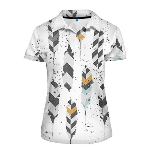Женская рубашка поло 3D Перья