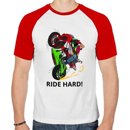 Мужская футболка реглан  Фото 01, Ride Hard (Moto)