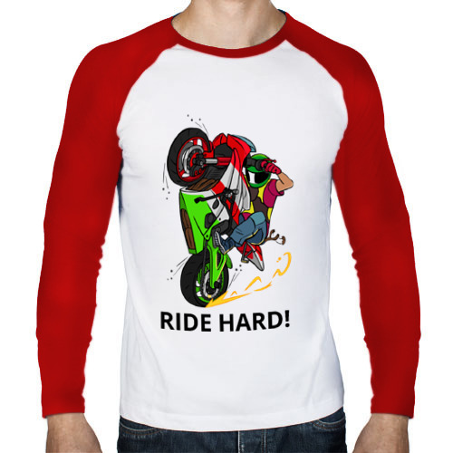 Мужской лонгслив реглан  Фото 01, Ride Hard (Moto)