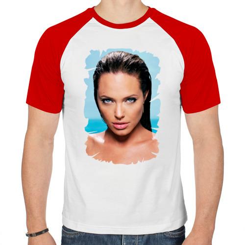 Мужская футболка реглан  Фото 01, Анджелина Джоли