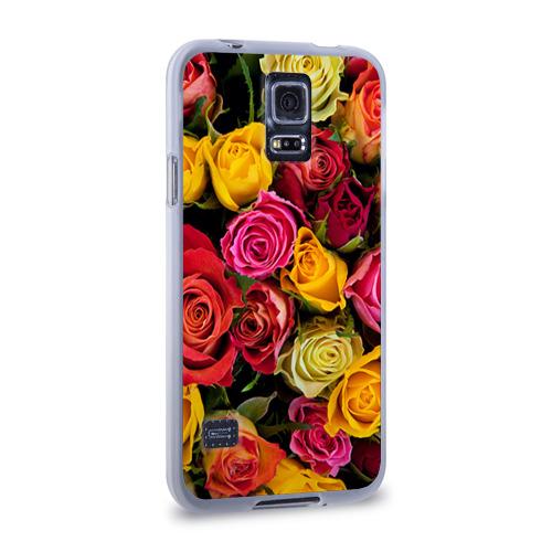Чехол для Samsung Galaxy S5 силиконовый  Фото 02, Цветы