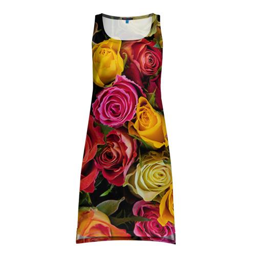 Платье-майка 3D Цветы