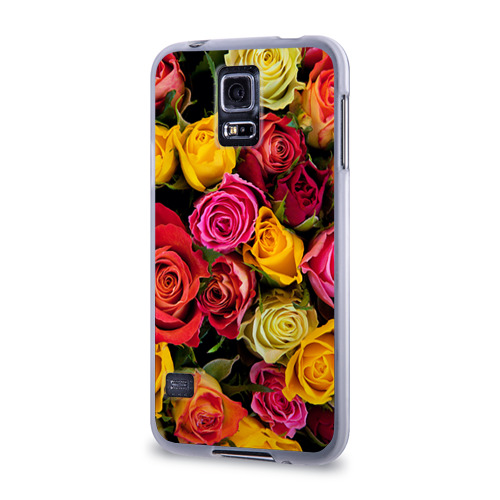 Чехол для Samsung Galaxy S5 силиконовый  Фото 03, Цветы