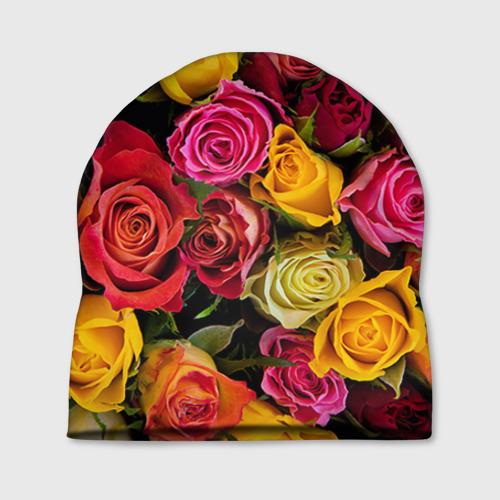 Шапка 3D Цветы
