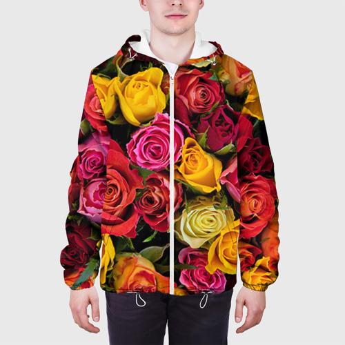 Мужская куртка 3D  Фото 04, Цветы