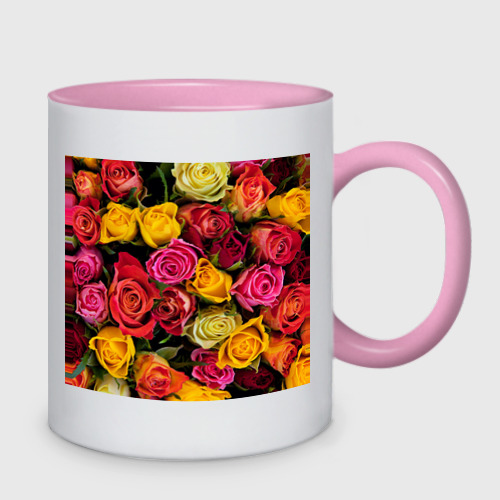 Кружка двухцветная Цветы Фото 01