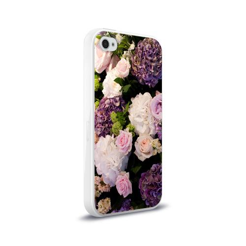 Чехол для Apple iPhone 4/4S силиконовый глянцевый  Фото 02, Цветы