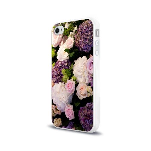 Чехол для Apple iPhone 4/4S силиконовый глянцевый  Фото 03, Цветы