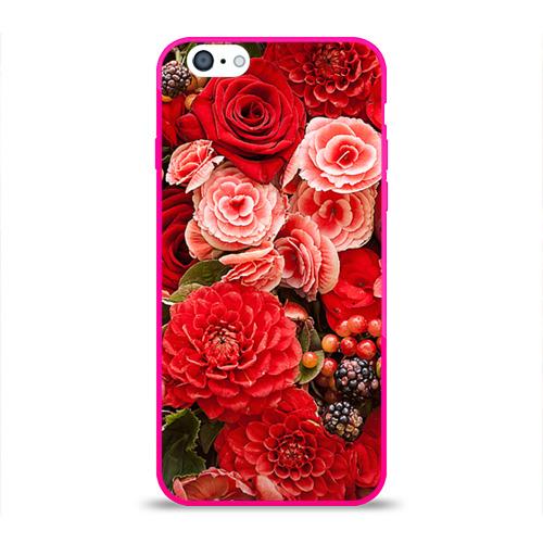 Чехол для Apple iPhone 6 силиконовый глянцевый  Фото 01, Цветы