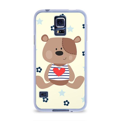 Чехол для Samsung Galaxy S5 силиконовый  Фото 01, Мишка