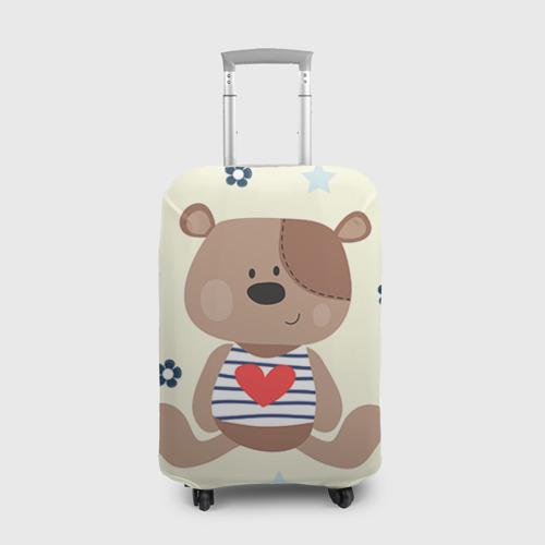 Чехол для чемодана 3D Мишка Фото 01