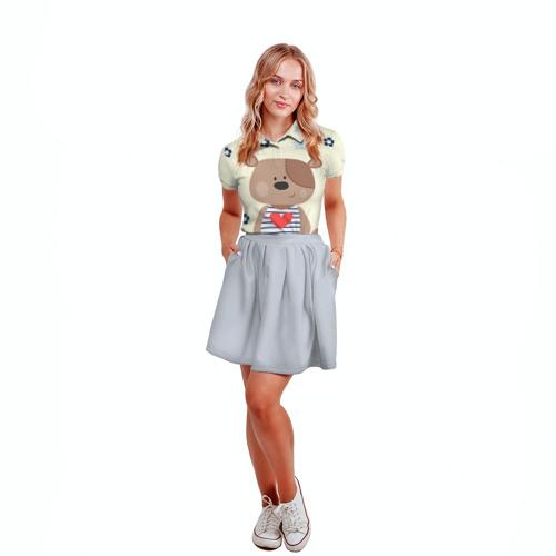 Женская рубашка поло 3D Мишка Фото 01