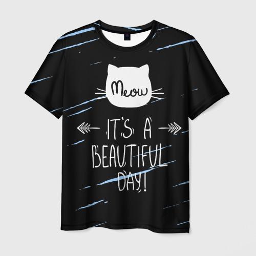 Мужская футболка 3D Прекрасный день