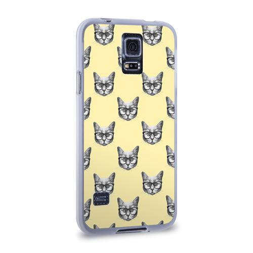 Чехол для Samsung Galaxy S5 силиконовый  Фото 02, Котик