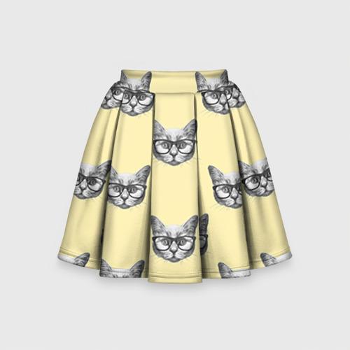 Детская юбка-солнце 3D Котик